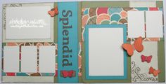 CTMH Stella layout - Will have to use the cricut letters for title. Butterflies are so sweet on this layout, too.