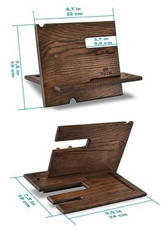 Wooden Pallet Projects, Wooden Pallets, Diy Projects, Cool Woodworking Projects, Woodworking Joints, Desk Accesories, Wood Phone Holder, Support Telephone, Cool Gadgets To Buy