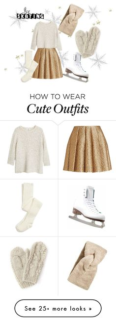"""The perfect ice skating outfit"" by missjennaluv on Polyvore featuring MANGO, Creatures Of The Wind, Sole Society, Riedell, snow, iceskating, fashionset and winterstyle"