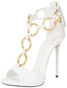9b0acc0f255 giuseppe zanotti gold ring detail t strap sandals white 3. Jaylanny · Heels