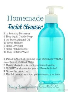 Homemade Facial Cleanser with Essential Oils Feel beautiful with customized skincare by roseandabbot.com