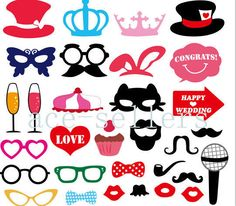 2015 31PCS DIY Party Masks Photo Booth Props Mustache On A Stick Wedding Party&5