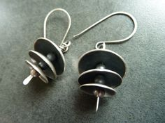 Pagoda Style Silver Earrings by fentondesign on Etsy, $95.00