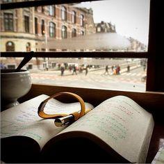 Your Rollsnote everywhere with you. Twój Rollsnote wszędzie gdzie ty.  #rollsnote #Polski_Druk #note #notebook #printu_printu #Amsterdam #coffeebreak