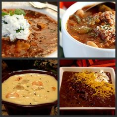 Healthy Soup Ideas - Part 2 (Lasagna; Meatloaf Minestrone; Cheesy Chicken Cauliflower Chowder; Thick Black Bean Soup)