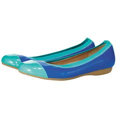 Avon: Two-Tone Comfort Flat $34.99. Comfortable elastic stretch cuff. Plush padded footbed. Leatherlike upper with patent-leatherlike toecap. Skid-resistant rubber sole. Whole sizes only. Half sizes, order one size up.