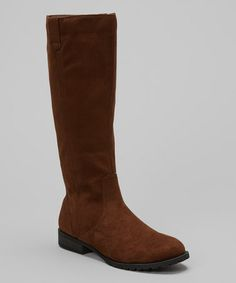 Take a look at this Brown Suede Philip Boot by Mark & Maddux on #zulily today!