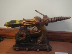 Another Raygun, alot of this was sculptered with some metal parts and old valve painted with glass paint.