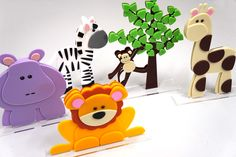 Display de Animais do Safari