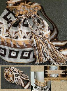 Wayuu Bag-Modelle - romina aburto salazar - Willkommen bei Pin World Crochet Handbags, Crochet Purses, Crochet Bags, Crochet Chart, Crochet Stitches, Mochila Crochet, Tapestry Crochet Patterns, Tapestry Bag, Clutch
