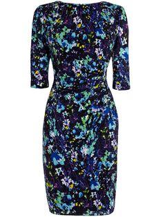 Multicolor Round Neck Half Sleeve Print Dress, 100% Quality Guarantee