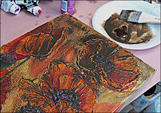 How to Add Incredibly Thick Texture to your Acrylic Paintings How to Paint and Glaze your Textured Painting.