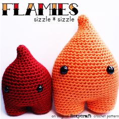 Crochet in time for the Holiday!  Flamies Crochet Amigurumi Pattern