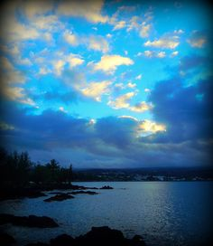 The thought of blue skies makes me want to cruise to sea for an amazing vacation.... Hilo, Hawaii is bluer than blue.