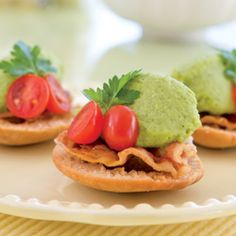 Fava Bean Puree on Toasted Pita Rounds [use vegetarian meat substitute for healthy option]