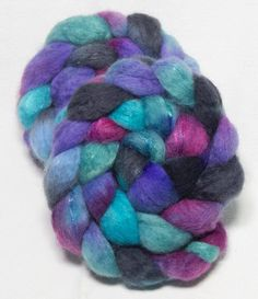 A personal favourite from my Etsy shop https://www.etsy.com/uk/listing/527548160/bfl-sparkles-hand-dyed-roving-blue-faced
