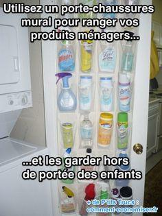 Vous êtes le roi ou la reine du nettoyage minutieux et avez un spray pour chaque tâche ménagère ? Et, du coup, vous trouvez que les produits ménagers, finalement, c'est super ch.... à ranger. Je vois... Voici LA solution que vous cherchez désespérément depuis des années. Regardez :)  Découvrez l'astuce ici : http://www.comment-economiser.fr/ranger-produits-menagers.html?utm_content=bufferd0c39&utm_medium=social&utm_source=pinterest.com&utm_campaign=buffer