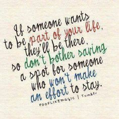Oh man, isn't this the truth. I've learned this well. I definitely don't bother with people who don't reciprocate.