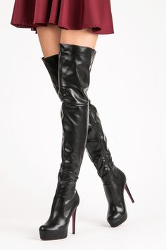 Thigh boots and skirt