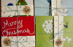 Mr. Buttonman's Christmas 2014 Postcard sets all packaged and ready to go. All hand-crafted by Joelle gebhardt and available on my etsy shop.