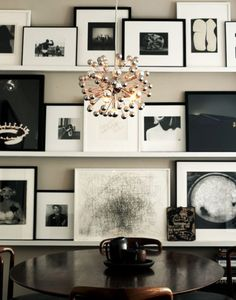 Great way to display pictures/frames without making a thousand holes in the walls.
