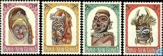 Postage Stamps - Papua New Guinea - Native carvings