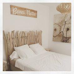 Tête de lit bois flotté - une décoration romantique qui respire la ...