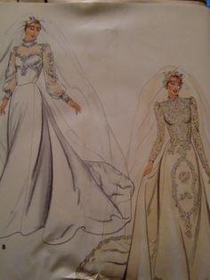 Vintage Butterick Pattern No 3944 Misses' Bridal by Elliesstudio, $10.00