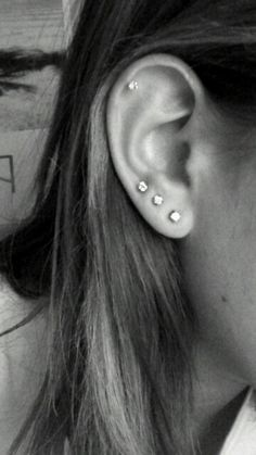 Image result for 3 piercings in one ear