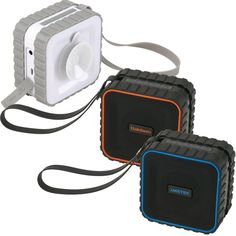 Bluetooth suction waterproof speaker~ Everyone needs this! Call for your pricing. Waterproof Bluetooth Speaker, Bluetooth Speakers, Speakers For Sale, Usb Drive, Corporate Gifts, Aqua, 5 Hours, Charging Cable, Range