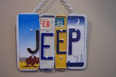 JEEP SIGN Recycled  Repurposed  Upcycled Only in a by KoolPlatez, $30.00