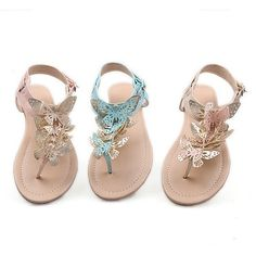 2014 New Womens Gladiator Sandals Flats Thongs Shoes T Straps Ladies Shoes Sz 3-12