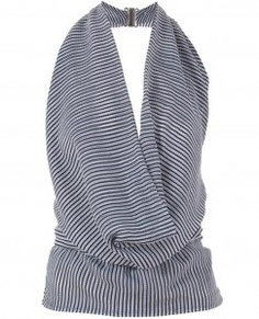 : Striped Silk Halter Neck Top By Gucci For Sailor Look Detail View