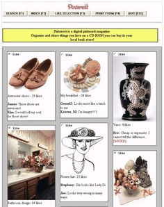What Pinterest Might Have Looked Like If It Was Created In the 1990s (Laughing Squid) - too funny