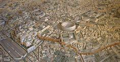 Plastico di Roma imperiale, iniziato dall'architetto Italo Gismondi nel 1933 e poi ampliato fino all'inaugurazione nel 1955. Realizzato in gesso alabastrino, si trova nel Museo della Civiltà Romana.
