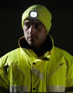 Gorro Beanie con luz LED recargable.