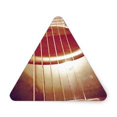 Acoustic Guitar (Photography) Triangle Stickers