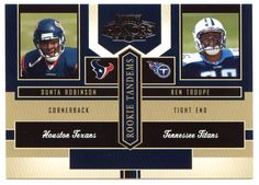 Dunta Robinson / Ben Troupe # RT 12 - 2004 Playoff Honors Football - Rookie Tandems
