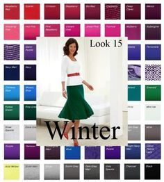 Bring your Winter color swatch to life! See how to translate those fabulous colors into outfits. #color analysis winter
