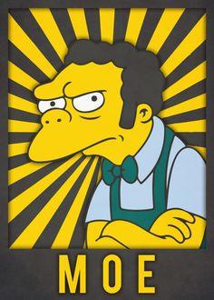 Moe, The Simpsons Simpsons Characters, Simpsons Art, Old School Cartoons, 90s Cartoons, Futurama, Krusty The Clown, Cartoon Painting, Joker And Harley Quinn, Cultura Pop