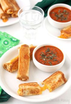 Grilled cheese sticks with tomatoe soup are a fun way to serve the American favorite. This is a great kid friendly recipe to make on a budget - why not try it for Mother's Day and get the kids to help!