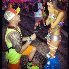 Rave Proposal - #edm #rave #wedding #engaged #couple                                                                                                                                                     More