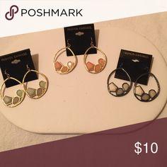 Fashion Earrings Geo Metric Shape Designer Inspired Hoops Jewelry Earrings