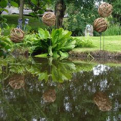 Garden Art - weaving willow