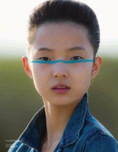 Xiao Wen Ju by Hans Feurer for Vogue China July 2013 5