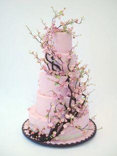 Una tarta al estilo japonés para tu #boda ? / Japanese sakura style #wedding cake