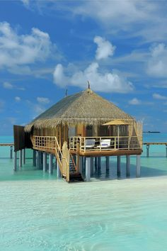 Overwater villa ~ Constance Moofushi Resort in the Maldives
