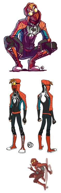 15 Spectacular Spider-Man Redesigns The Amazing Spider-Man 2 movie is out May and we're all excited to see the second film in the rebooted story. But back when the first movie came out, fans were admiring, or hating on. Spiderman Cosplay, Spiderman Art, Amazing Spiderman, Spiderman Drawing, Comic Art, Comic Books, Spectacular Spider Man, Spider Man 2, Marvel Art