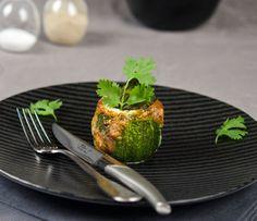 Cougettes rondes farcies à la courgette, coriandre et fromage de brebis 'brebille' Papillon