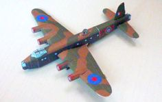 WWII Short Stirling Heavy Bomber Free Aircraft Paper Model Download…